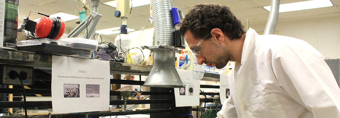 Hussam Saleem works in environmental engineering laboratory