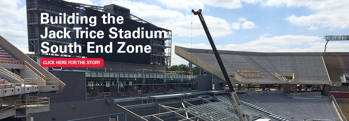 Building the Jack Trice Stadium South End Zone