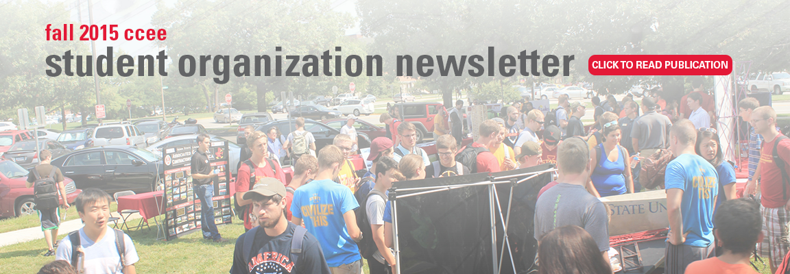 Fall 2015 CCEE Student Organization Newsletter