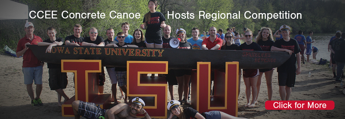 Concrete Canoe Leadership Focuses on Goals while Hosting Regional Competition