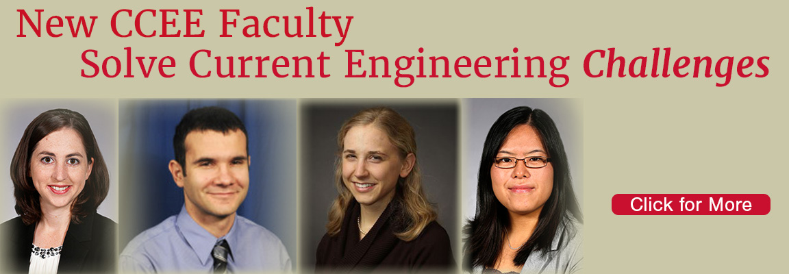 New CCEE Faculty Solve Current Engineering Challenges