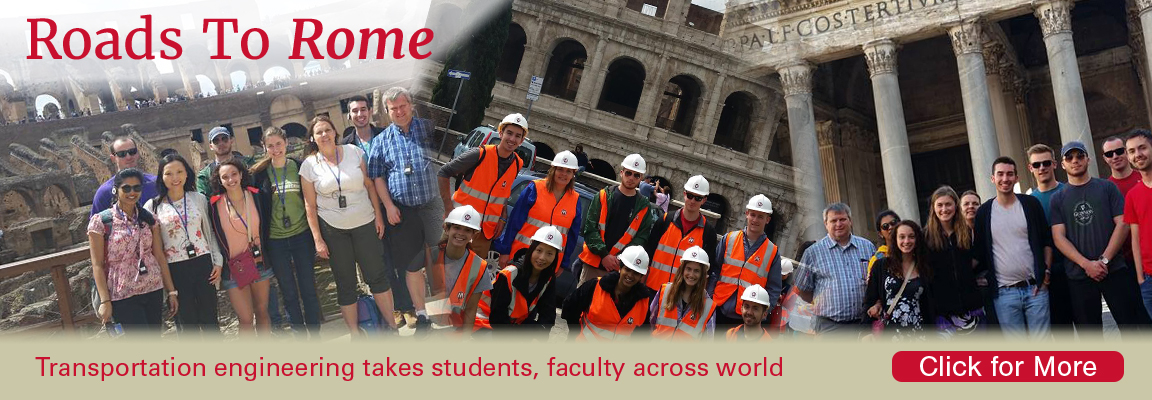 Transportation engineering takes students, faculty to Rome