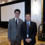 Cheng with John Dietrick, P.E., S.E., General Chair of the 2016 IBC and Senior Vice President and National Bridge Practice Director for Michael Baker International