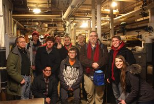 ISU ASCE Student Chapter members tour ISU steam tunnels (Photo courtesy Erica Mack)