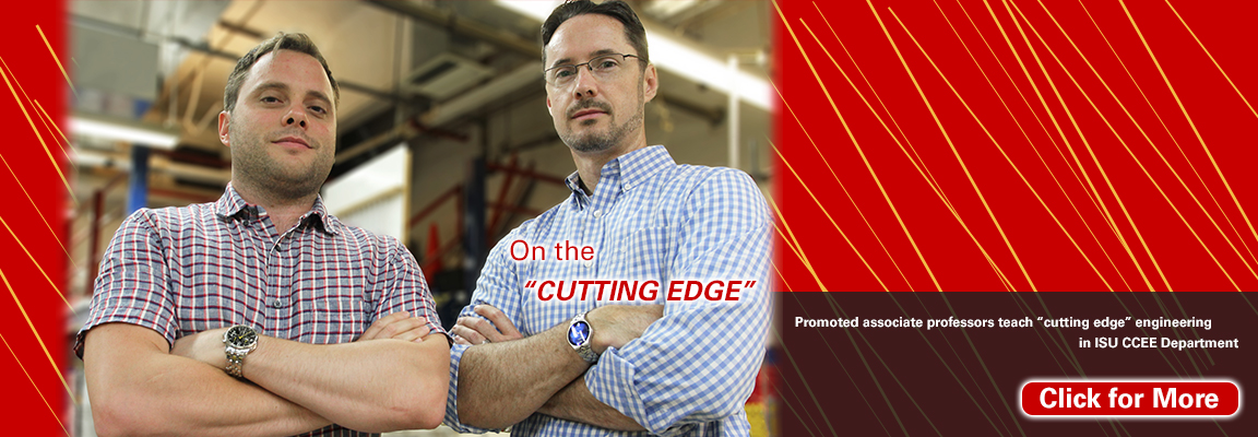 "Promoted associate professors teach ""cutting edge"" engineering in ISU CCEE Department"
