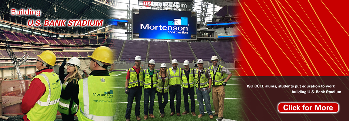 ISU CCEE alums, students put education to work building U.S. Bank Stadium
