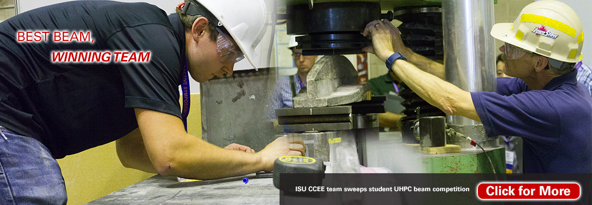 ISU CCEE team sweeps student UHPC beam competition